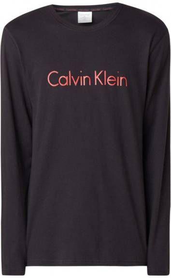 Calvin Klein Jeans sweatjurk met logo zalmroze Obooi.nl